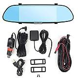 KIMISS Car Driving Recorder, Dash Cam Driver Recorder Video Cámara dual GPS Navegación Espejo retrovisor 4G C08