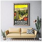 qinminsru Brisbane Australien Tourismus Poster Vintage