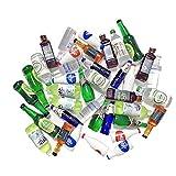 Juland 40 botellas de vino de resina en miniatura, para casa de muñecas, comedor, decoración, coloridas botellas de zumo, en miniatura, vajilla, botellas, casa de muñecas, bebidas, modelo
