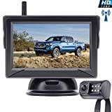 Leekooluu Digital Wireless Backup Camera for Cars/Trucks/SUVs/Pickups,4.3' Monitor High-Speed Observation System, IP69K Waterproof Front/Rear View Camera,Super Night Vision,Guild Lines On/Off