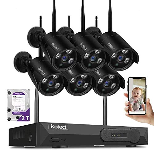 ISOTECT [Newest Strong Version WiFi] Wireless Security Camera System,8CH Full HD 1080P Video...