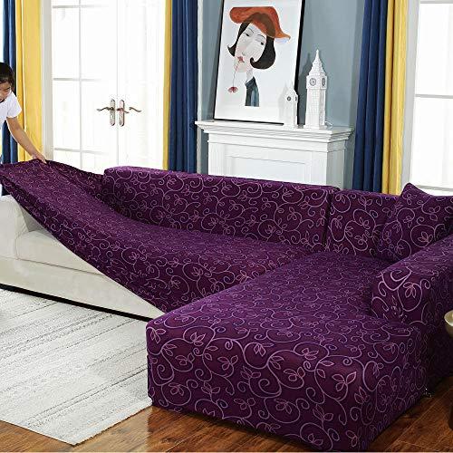 YUTJK Sofa Überdecke,Sofa überzug,Ich Forme Stretch-Sofabezug,elastische Couch-Schonbezug,Bedruckte All-Inclusive-Sesselbezüge,Ecksofa-Schutz-G_3_Seater/Sofa