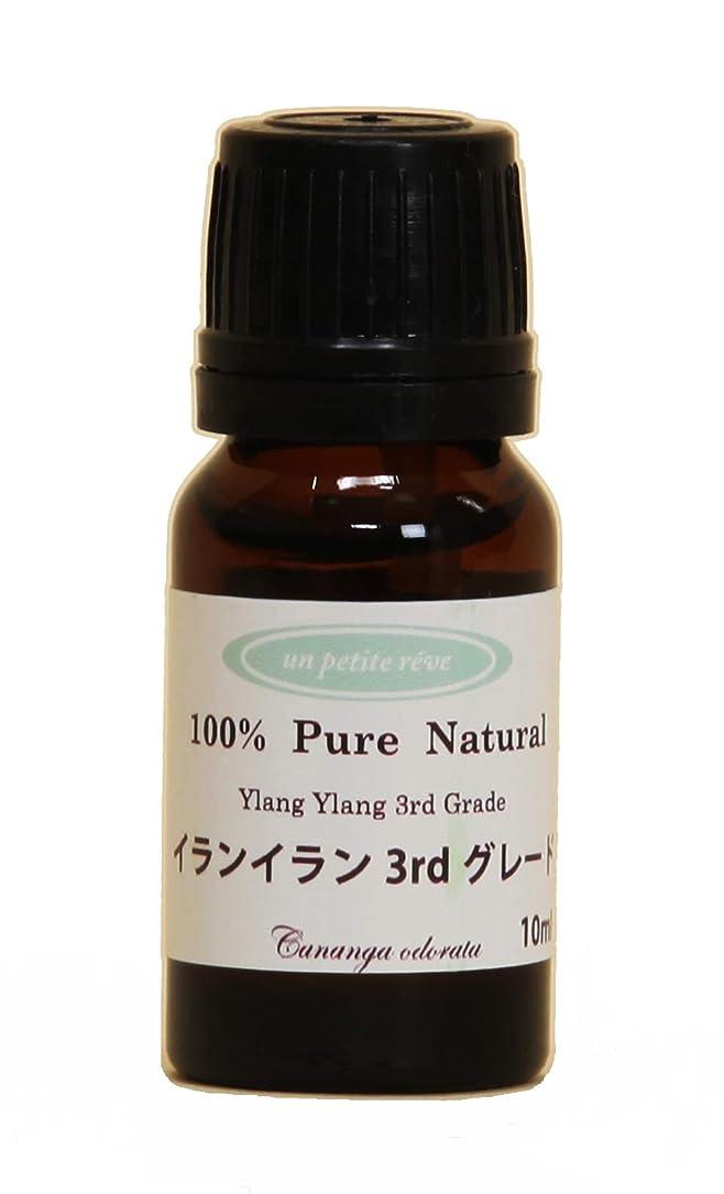 不確実阻害する腹痛イランイラン3rdグレード 10ml 100%天然アロマエッセンシャルオイル(精油)