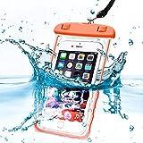 Bolso seco de la bolsa de la caja del teléfono móvil del teléfono móvil del pasaporte del dinero sellado impermeable impermeable IPX8 con el acollador elástico largo para Motorola Moto Z3 Play