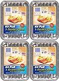 EZ Foil Broiler Pans, 9' x 6.25' x .75', 12 Pack