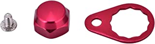 Tbest Screw Nut Cap Bearing Cover for Fishing Reel Left/Right Handle Knob Locking Plate DIY Fishing Accessory 4 Colors Selectable (Pack of 2)(Red-Right Hand)