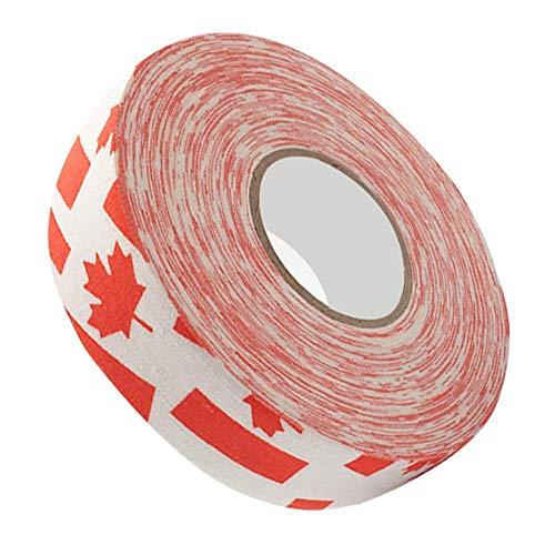 Badmintonband Hockeyband Hockeyschlägerband,Badminton-Pole-Pads Badminton-Pole-Tape, verschleißfestes Hockey-Schutzband, Hockey-Stick-Tape(Red Maple Leaf)