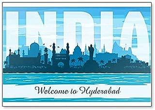 Hyderabad India City Skyline Classic Fridge Magnet