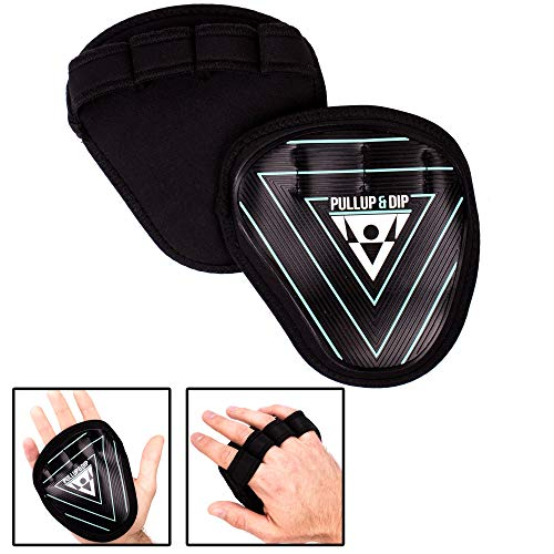 PULLUP & DIP Griffpolster Griffpads für Klimmzüge, Calisthenics, Bodybuilding & Krafttraining, Grip Pads aus Gummi + Neopren, Trainings Pads als Alternative zu Trainingshandschuhen