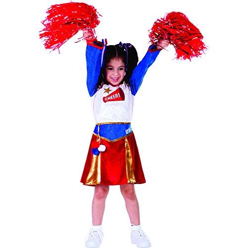 Dress Up America Costume de pom-pom girl américain pour enfants