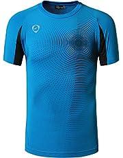 jeansian Hombre Sport Dry Fit Deportiva tee Shirt Tshirt T-Shirt Manga Corta Tenis Golf Bowling Camisetas LSL133