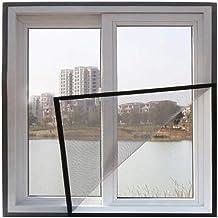 BASHI Universeel transparant raamgaas, robuust pvc-glasvezelgaas met zelfklevende tape, praktisch raamscherm net kattenbes...