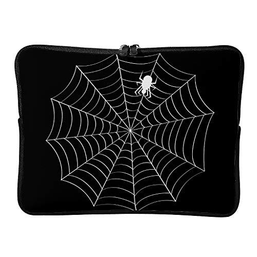 Regular Cobweb Spiderweb Bolsas de ordenador portátil personalizadas resistentes al desgaste – Halloween Horror Tablet caso adecuado para interior, Blanco2 (Blanco) - Knowikonwn-DNB-8
