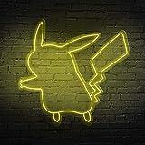 Neón Pikachu | Diferentes tamaños y colores | Soporte metacrilato 8mm | Uso interior | Atornillado...