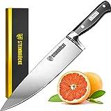 STEINBRÜCKE Chef's Knife - 10 Inch Pro Kitchen Knife, HRC58 German Stainless Steel, Sharp Chef...