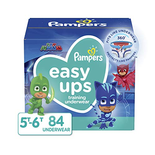 Pampers Easy Ups Training Pants Boys and Girls, 5T-6T (Size 7), 84 Count