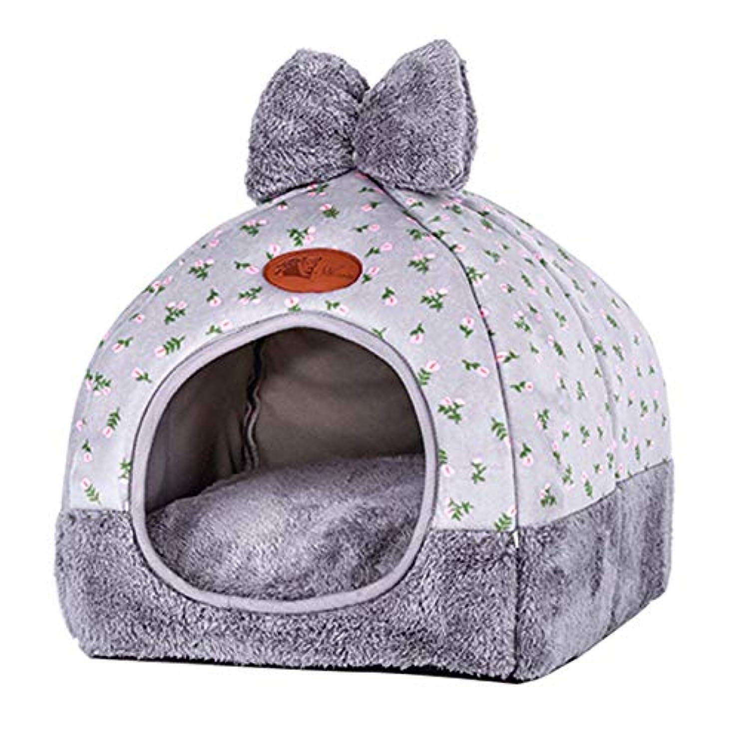 美的ぼろ成功するCozyswan ドーム型ペットベッド 蝶結びデザイン 小型犬 猫用 マット キャットハウス ふかふかハウス クッション付 可愛い 秋冬 冬用 防寒 洗える 暖かい ベッド ペット用寝袋 ぐっすり眠れる 四季適用