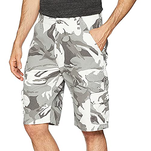 Pantalones Cortos de Trabajo Camuflaje para Hombres Shorts Hombre Verano con Bolsillos Pantalon Corto Hombre de Poliéster Pantalones Casual Pantalones Cortos Transpirable Shorts Deportivos