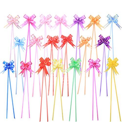 200 mini lazos para envolver regalos, cestas de regalo de 10,16 cm, lazos de decoración para bodas, fiestas, cumpleaños, coche, vacaciones, bolsas (color al azar)