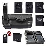 Battery Grip Bundle F/Nikon D5600: Includes Vertical Battery Grip, 4-Pk EN-EL14a Long-Life Batteries, Rapid Dual Charger, UltraPro Accessory Bundle