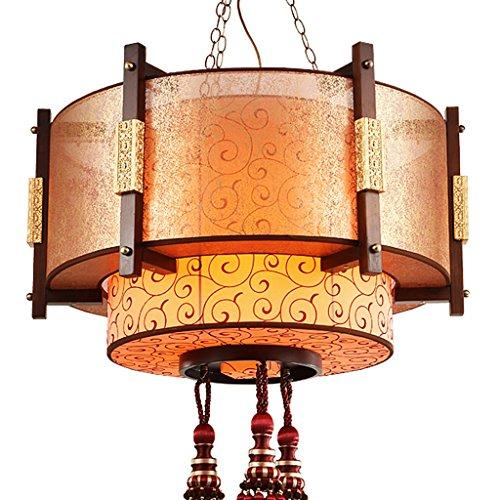 Lying Art en bois Salon Ingénieur Grand chandelier Antique Restaurant Hôtel Restaurant Lampes Retro Villa Hall Lights 10 Head E27 trouver (Couleur : #1)