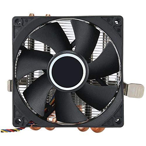Yuyanshop Enfriador de aire de CPU para AMD, metal 4 tubos de calor de latón puro, ventilador de CPU con conector de 4 pines, 50000 horas de vida útil, para AMD 775/1150/1151/1155/1156/1366