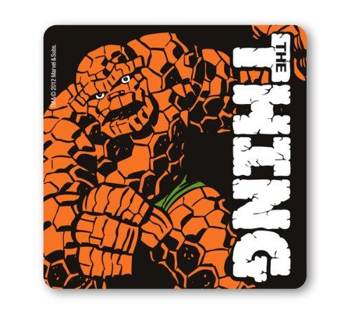 Logoshirt Untersetzer The Thing - Marvel Comics - Das Ding - schwarz - Bierdeckel - Lizenziertes Originaldesign