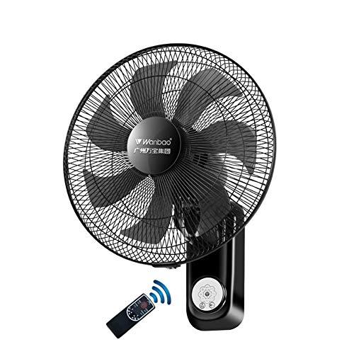 Fans Ventilatore da Parete oscillante con Telecomando,Nero Ventilatore Elettrico a Muro,Silenzioso,Pulizia Rimovibile