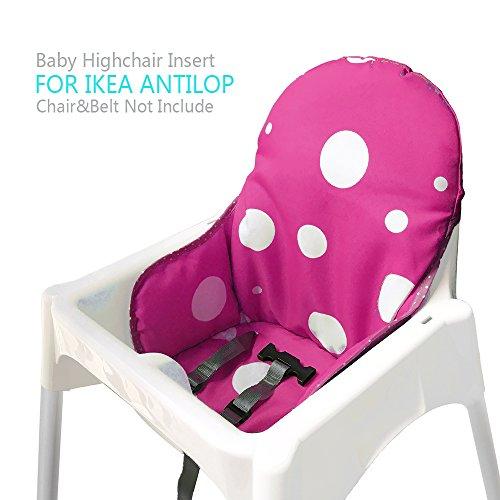 Ikea Antilop Hochstuhl Sitzbezüge & Kissen von ZARPMA, Waschbar Faltbarer Babyhochstuhl Bezug Ikea Kinder Sitz Covers Stuhlkissen (Dunkelrot)