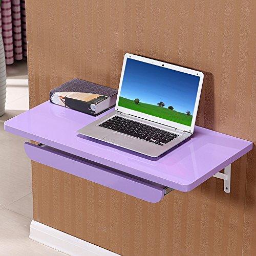 Table Haizhen Station de travail murale pliable pour ordinateur 80 x 40 cm Violet