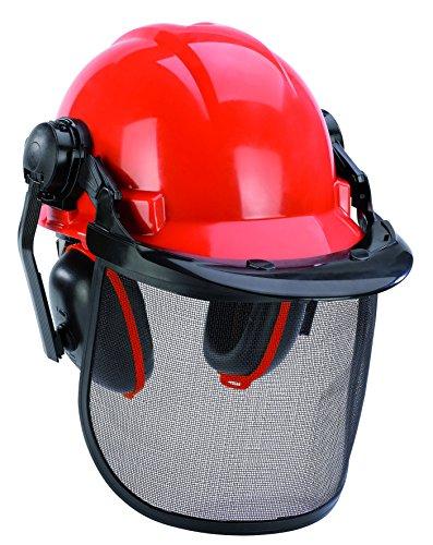 Original Einhell Forstschutzhelm (52-66 cm Kopfumfang des Helmes, verstellbarer Gehörschutz)