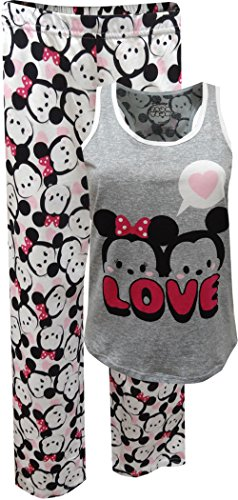 Disney Tsum Tsum Mickey and Minnie Tank Capri Plus Size Pajama for women (3X)