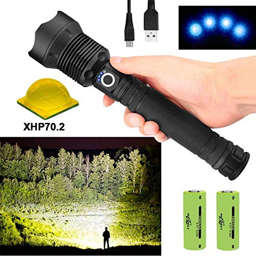 100000 Lúmenes XLamp Xhp70.2 Potente Linterna LED Zoom Antorcha LED Xhp70 18650 26650 Batería Recargable USB A Prueba De Agua