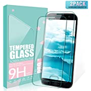 SGIN Galaxy S7 Panzerglas Schutzfolie, [2 Stück] Premium Gehärtetem Glas Displayschutzfolie, Anti-Kratzen, 9H Härtegrad, Anti-Fingerabdruck, Blasenfrei, für Samsung Galaxy S7 - Transparent