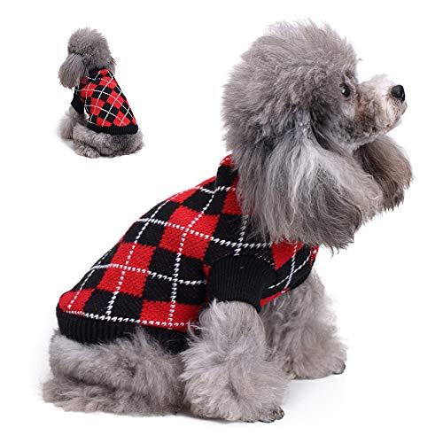 Hond Wintertrui Pet Warme vacht Puppy voor kleine tot grote honden Schattige zachte trui Kledingpatronen Kleding Breigoed,M