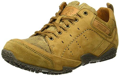 Woodland Men's Camel Leather Sneaker-8 UK/India (42 EU) (GC 2082116)