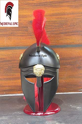 Mittelalterlicher Epischer griechischer Korinthischer Helm mit Pflaume, SCA Rüstung,...