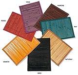 Casatessile Colores de Alfombra de bambú Carril Multiuso - Arancio, 50x100 cm.