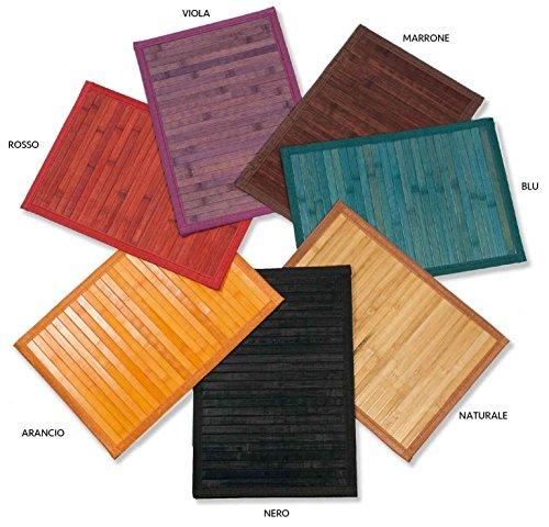CASA TESSILE Couleurs de Tapis en Bambou Polyvalent Lane - Naturale, 55x230 cm.