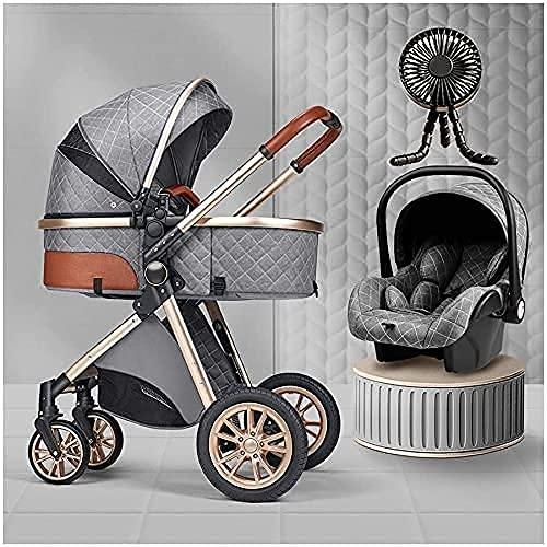 Pushchairs and Strollers 3 in 1 with 7-Piece Combination Stroller + Carrycot Convertible Into...