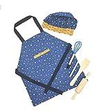N/ Chef Set Delantales NIÑA NIÑA Delantal Reversible + Gorro + utensilios de cocina .🎁