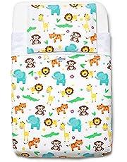 Niimo Next to me Sabanas set de sábanas (3 piezas) 100% algodón para cuna de colecho Lullago Kinderkraft UNO Cullami Cam Jane Babyside y otras con dimensiones 50x83 para recién nacido (Selva)
