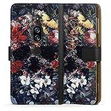 DeinDesign Étui Compatible avec Sony Xperia XZ 2 Premium Étui Folio Étui magnétique Fleurs Tête...