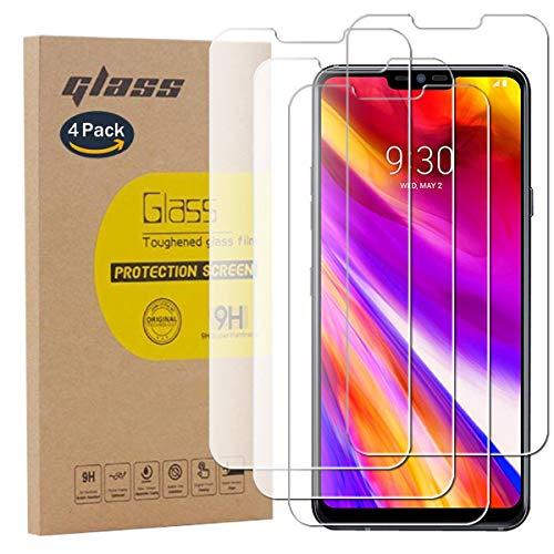 pinlu [4 Pack Pellicola Protettiva per LG G7 ThinQ / G7 Fit / G7 One Screen Protector Toccare Compatibile Pellicola Ultra Resistente in Vetro temperato