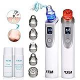 Y.F.M Limpiador de Poros 5 en 1, Removedor de Puntos Negros, Espinillas y Acné-2 Modos de Cuidado de Piel para Antiinflamatorios y Poros Reducidos, 5 Niveles de Succión, USB Recargable, Pantalla LED