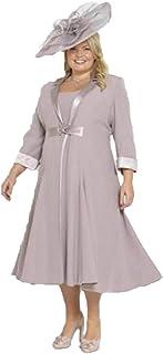 ec271663ad6a dressvip La Madre della Sposa Veste al Ginocchio con la Giacca di Chiffon  per Le Nozze