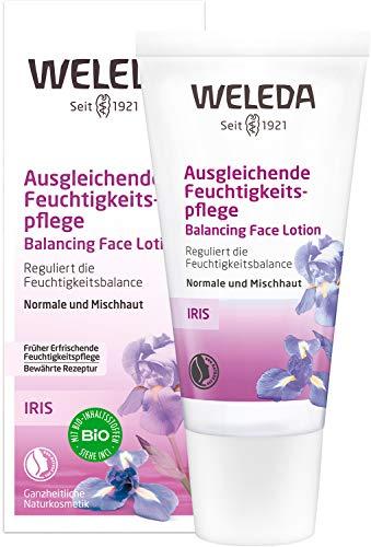 WELEDA Iris Ausgleichende Feuchtigkeitspflege, reichhaltige Tages- und Nachtpflege zur intensiven Pflege von trockener Haut, Naturkosmetik Creme reguliert die Feuchtigkeitsbalance (1 x 30 ml)