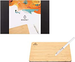 ViewSonic New WoodPad 7 inch Drawing Tablet with 4096 Pen Pressure Levels and 60 Degrees Pen Tilt Made of Bamboo with Batt...