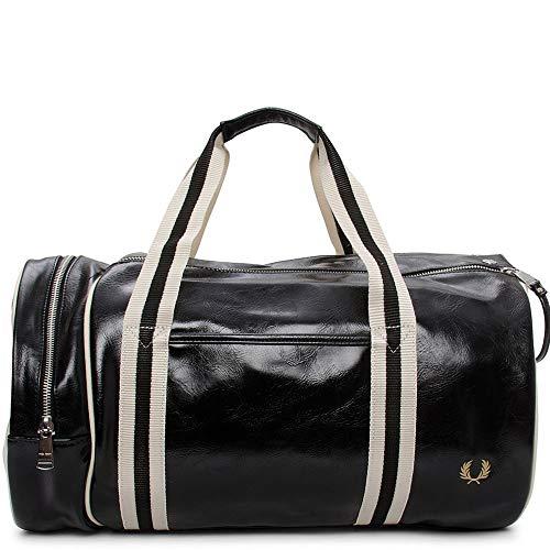 FRED PERRY Classic Barrel Bag Mochila de Deporte Hombres Negro - única - Mochila de Deporte