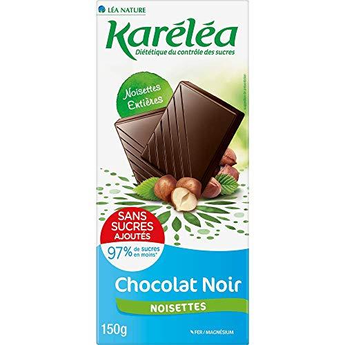 KARELEA Chocolat Noir Noisettes Entières SSA 150 g - Lot de 3